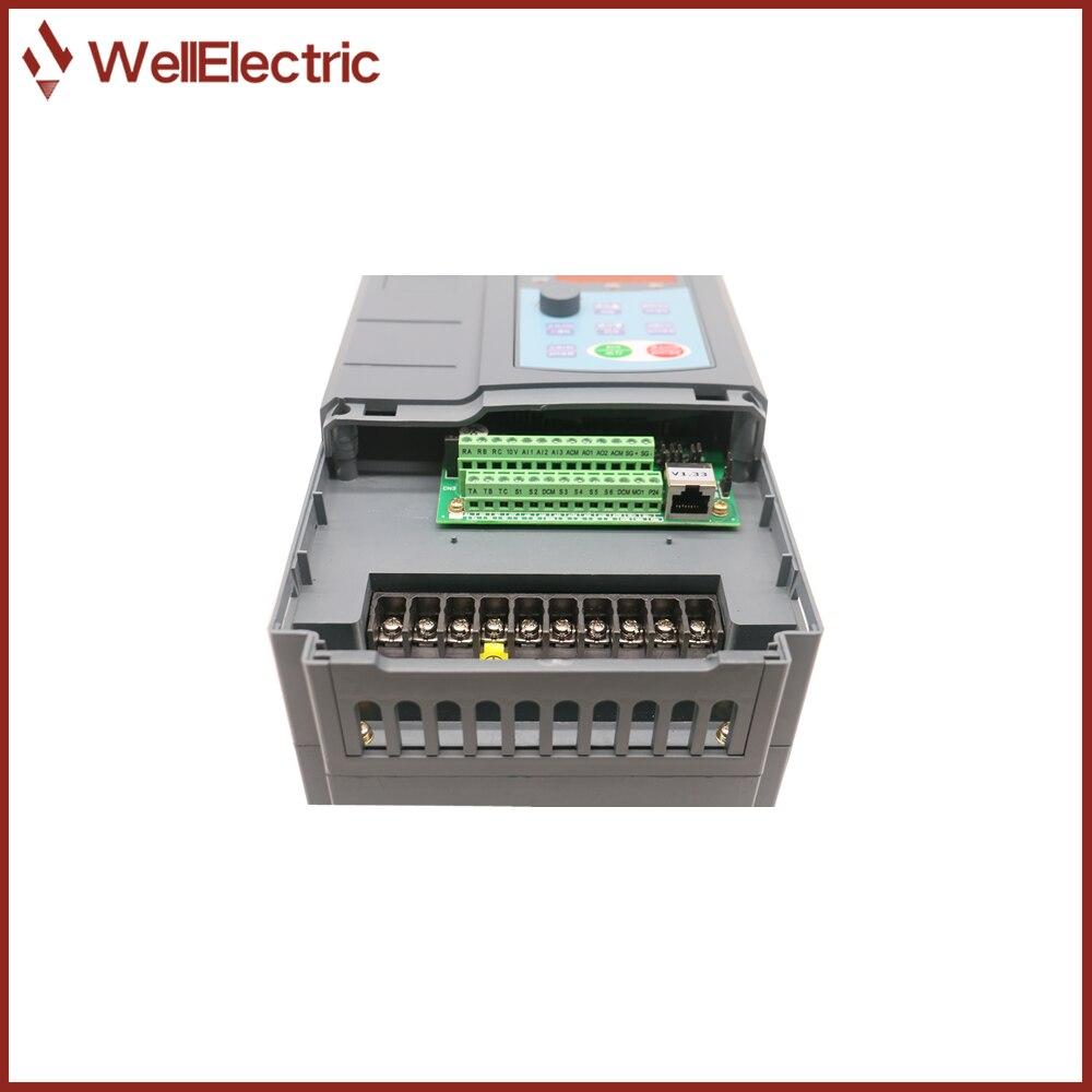 VFD Inverter 5.5KW/7.5KW/11KW/15KW/18.5KW 380V V/F control for Motor Speed Control Frequency Inverter enlarge