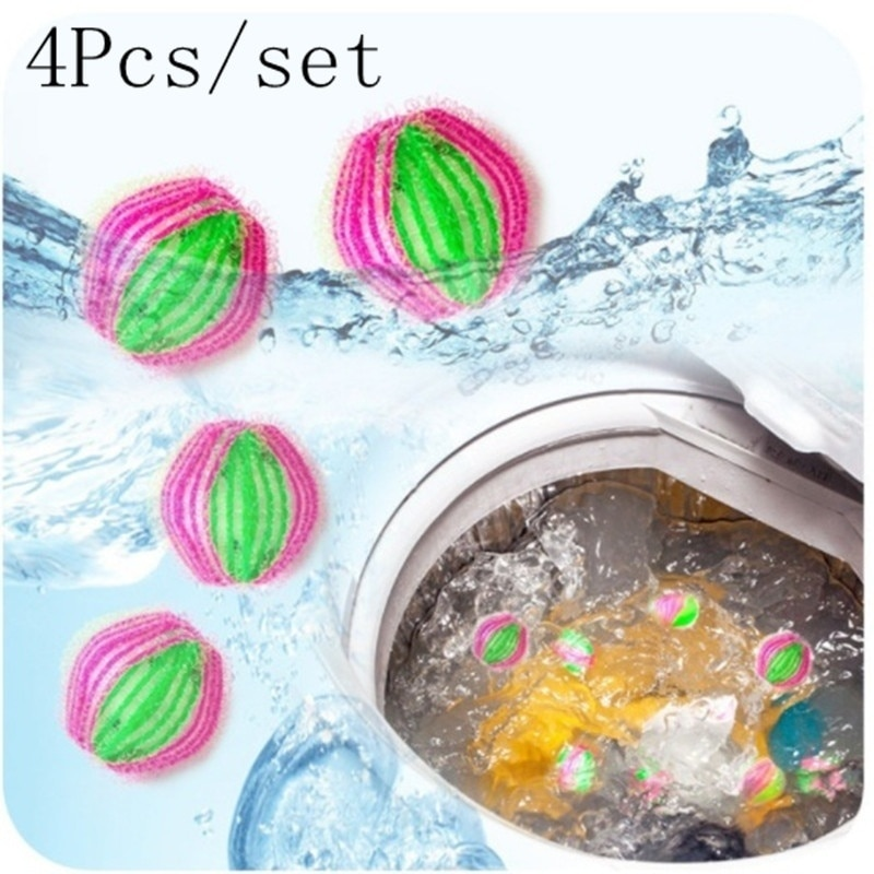4Pcs Magic Clothes Hair Removal Laundry Ball Clothes Personal Care Hair Ball Washing Machine Ball Cl