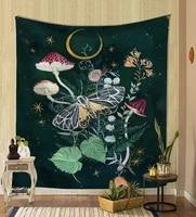 Couverture murale suspendue en tissu psychedelique  95x73cm  decoration pour la maison  tapisserie de chambre a coucher
