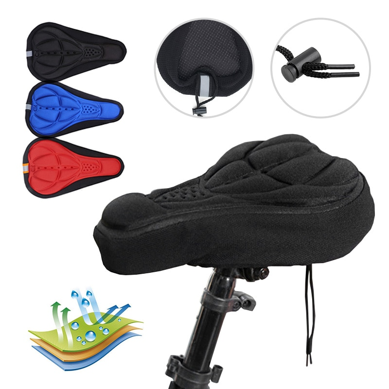 Bicycle Saddle Breathable MTB Mountain Bike Seat Mat Road Bike Seat 3D Soft Cycling Seat Cover For Bicycle Bike Accessories bicycle hub hybrid ceramic bearing freesport 1 pcs high speed bike for mtb mountain bike road cycling for bike hubs