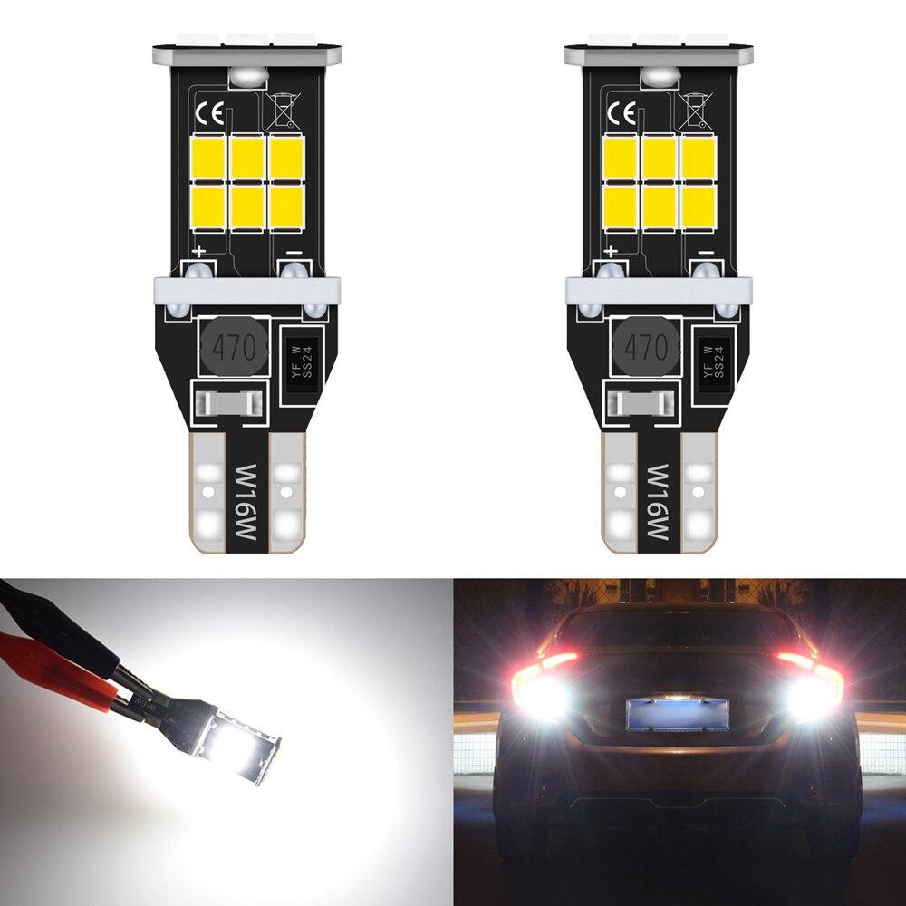2 шт. Canbus W16W T15 T16 921 912 светодиодный светильник OBC без ошибок светодиодный светильник заднего хода для автомобиля ксеноновая лампа белого цвет...