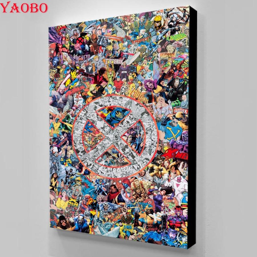 5d diy super herói marvel anime pintura diamante quadrado completo broca 2019 novo mosaico diamante redondo bordado contas