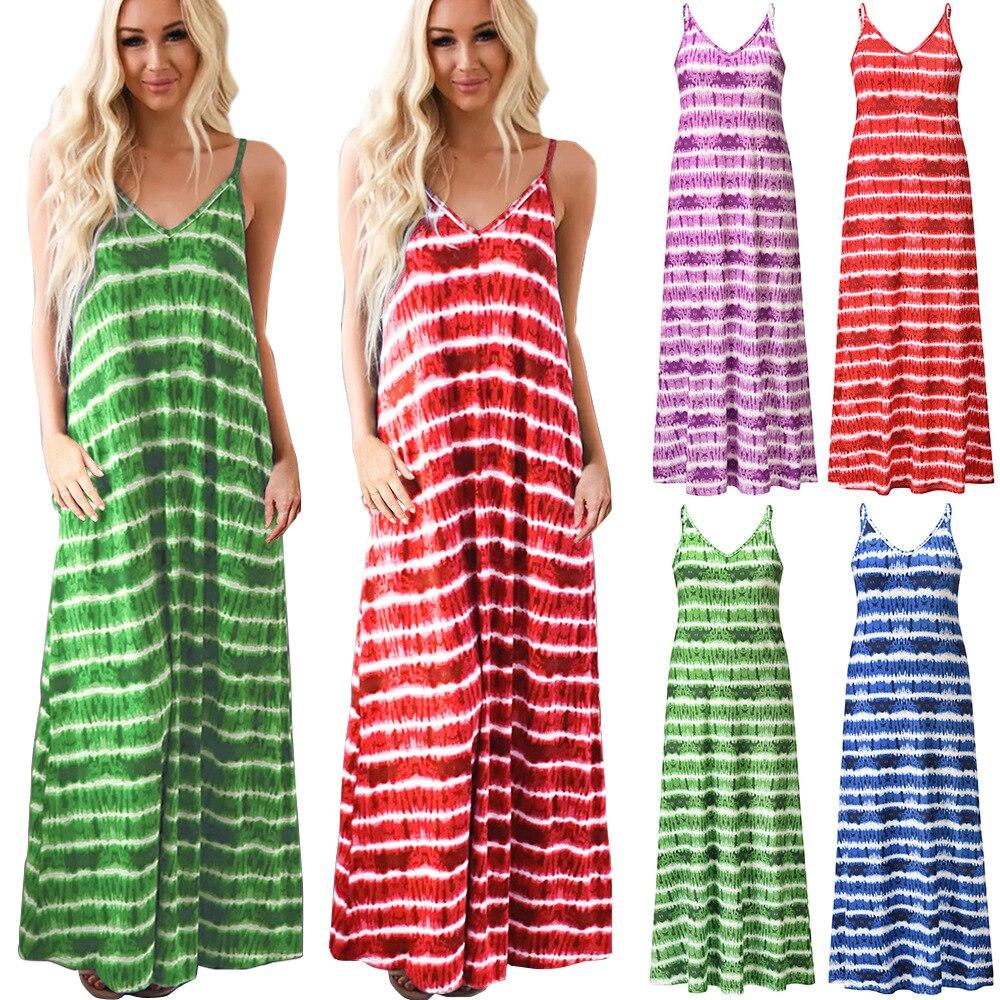 Yg brand women's summer new fashion gradualy strap V-neck dress temperament elegant dress