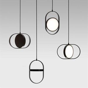 18x30cm Modern led pendant lights for living room dining room acrylic aluminum body LED Pendant Lamp Black/White nordic lamp
