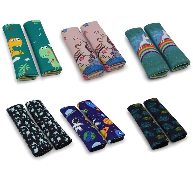 2 шт. милые автомобильные ремень безопасности наплечники для детей Защитные чехлы для подушек автомобильные подушки ремни безопасности