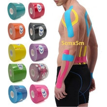 5 Size Kinesiology Tape Muscle Bandage Sports Cotton Elastic Adhesive Strain Injury Tape Knee Muscle
