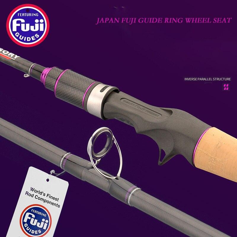 Japan Tackle Fuji Rings Cork Wood Handle Soft Tones UL/L 2.1 Meters Ultra Light Boat Lure Fishing Pole Casting Jigging Rod Rock enlarge