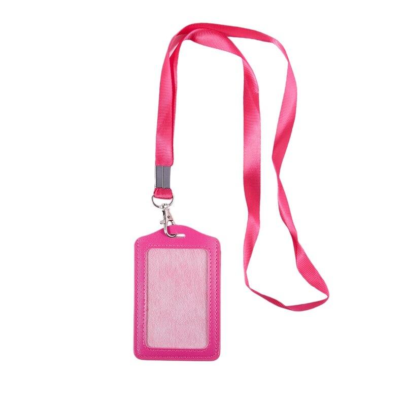 Nueva Oficina Cordon Nylon Vertical identificador bolsa rosa