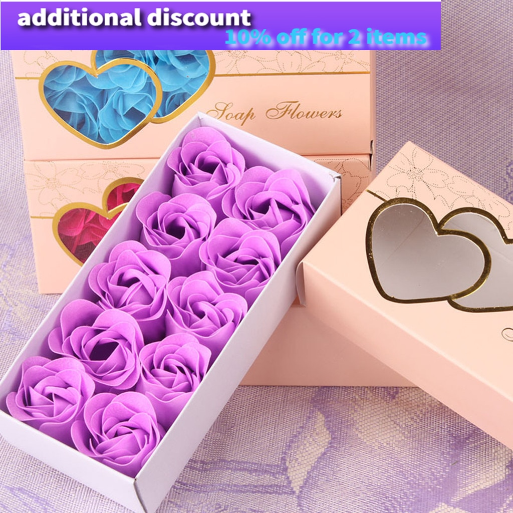 Dried Flowers Decoration Scented Bath Body Petal Rose Flower Soap Wedding Decoration Gift Best 10pc сухоцветы