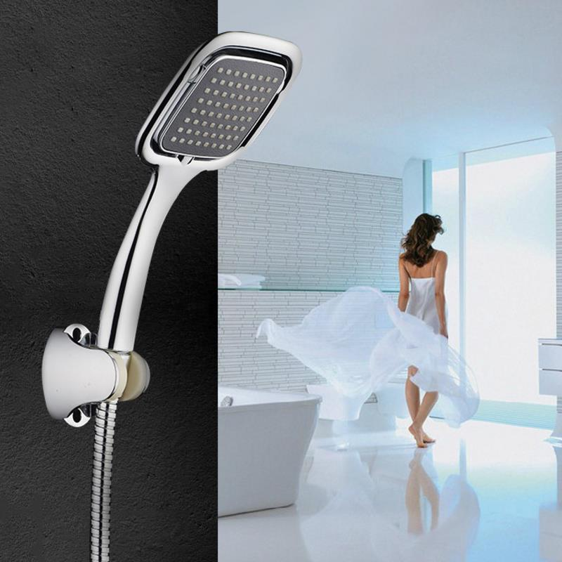 Large Rainfall Hand Shower Hand Held Rainfall High Pressure Shower Head Set Bathroom Faucet with 1.5m Shower Hose Accessories shower heads brushed nickel bathroom hand held shower sprayer head for bath saving water rainfall shower faucet nhh137