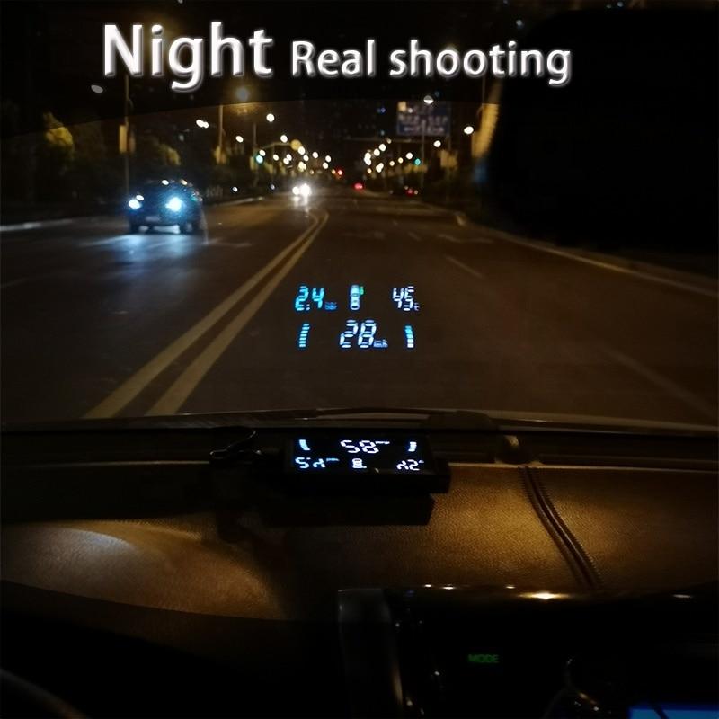 Universal Hud  Car Head Up Display Speed Projector Obd2 Driving Computer Built-in Sensor Tpms A200 Windshield  Screen