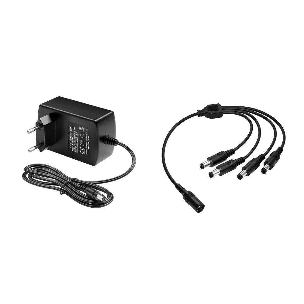 ZOSI inyector POE DC 12V 2A UE nos es Reino Unido vídeo CCTV cargador adaptador de fuente de alimentación BNC cámara de vigilancia de vídeo sistema de seguridad