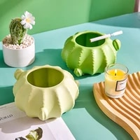 creative ceramic ashtray cactus shape cute portable ashtray modern home decoration living room decor office accessories gifts