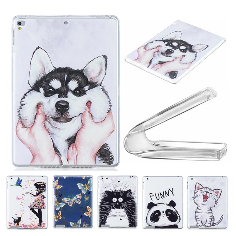 "Sllicon de cristal cubierta transparente para Huawei MediaPad M3 Lite 10 BAH-L09 BAH-AL00 W09 10,1 ""caso de TPU suave cachorro gato Tablet Funda"