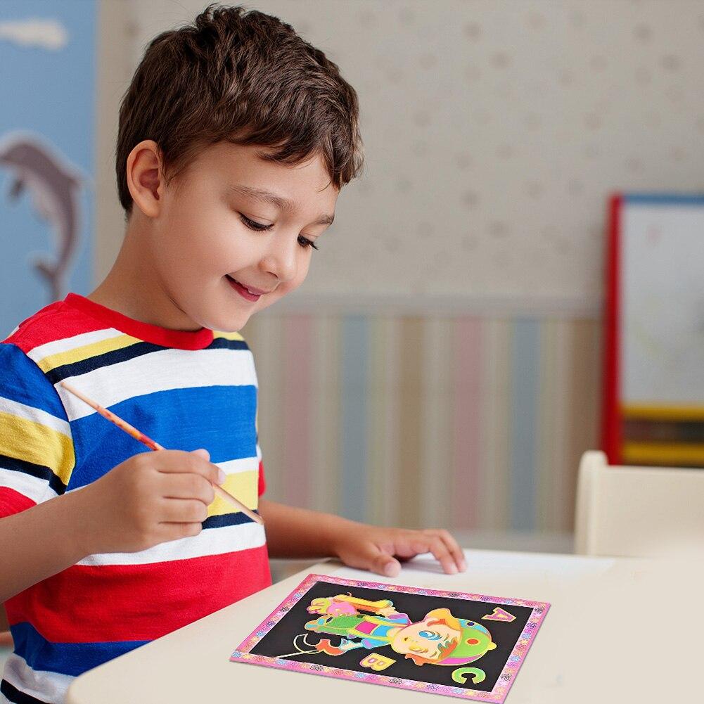 Papel para mesa de dibujo colorido mágico para niños y adultos, juguete...