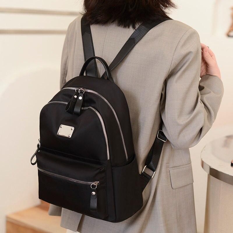 2021 نساء موضة مكافحة سرقة حقيبة الظهر مقاوم للماء نايلون حقائب مدرسية للمراهقين عالية الجودة حقيبة تسوق سفر Packbag