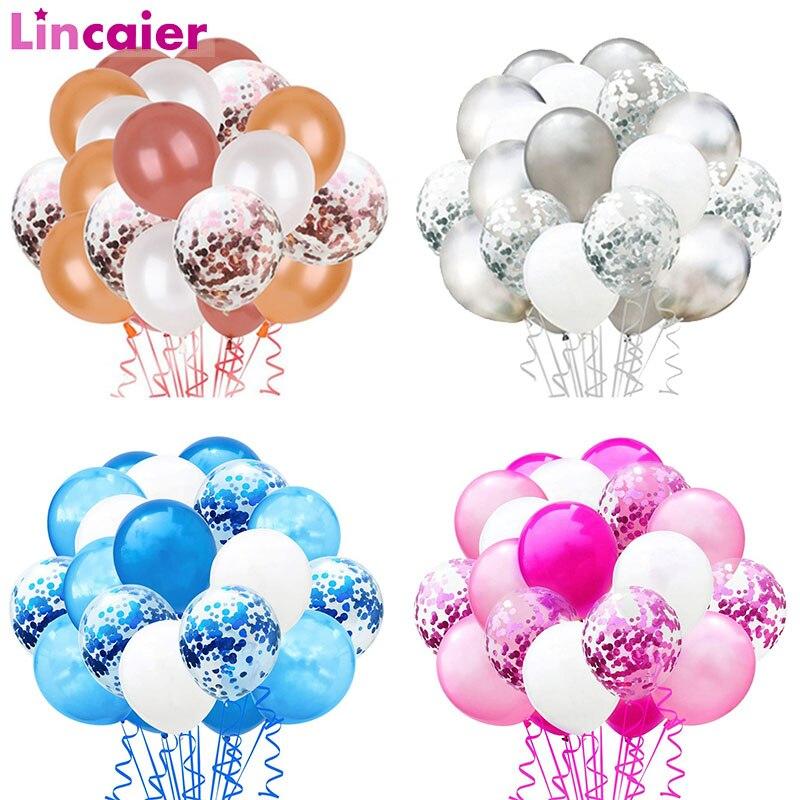 20 pçs metálico confetes balões de ar com fita decoração de mesa de aniversário do casamento chá de fraldas menino menina solteira galinha festa