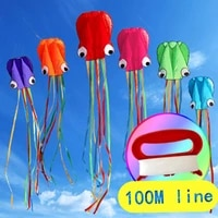5m color octopus kite soft inflatable kite animal kite long tail adult and child outdoor sports entertainment flying tool