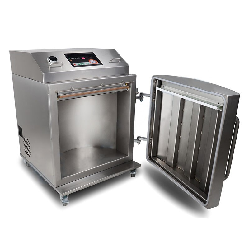 Máquina de envasado al vacío Vertical DZ-650L, máquina de envasado al vacío de materias primas químicas, máquina de envasado al vacío comercial 380v