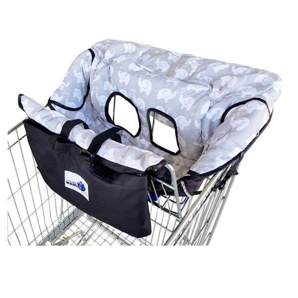 2 в 1 чехол на колесиках со слоном и чехол на кресло для малышей и младенцев с прозрачным карманом