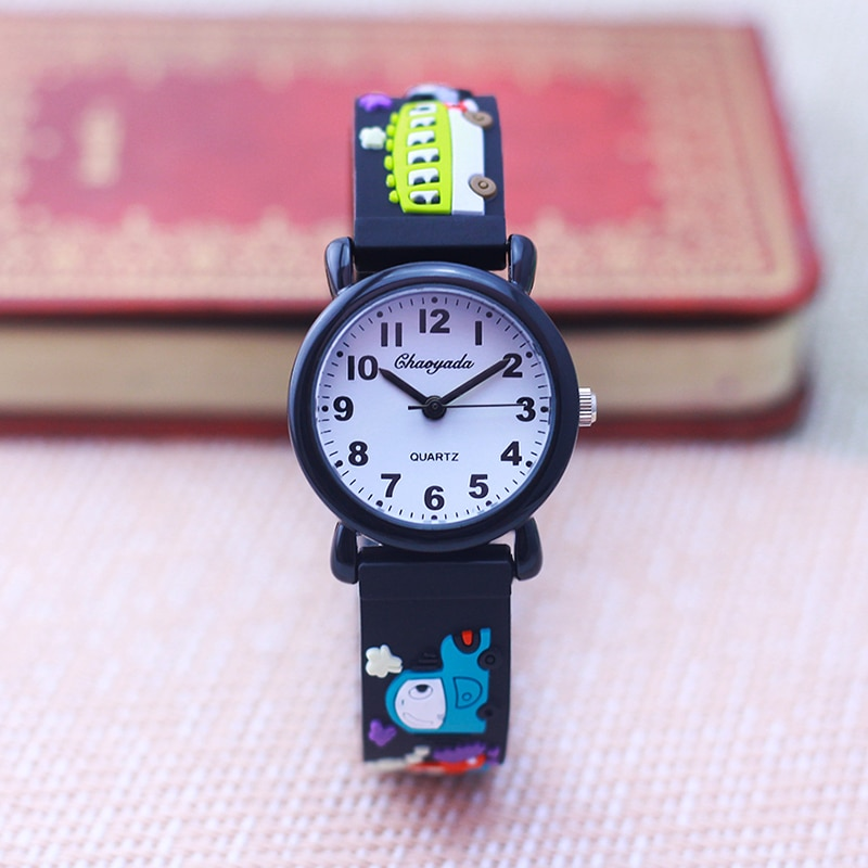 New Style High Quality Children Boys Girls Buses The School Bus Cartoon Lovely Watches Little Kids S