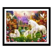 5D Diy Diamond painting unicorn Diamond Embroidery horse Full Square Diamond  Rhinestone Crafts Embroidery Animal Paradise