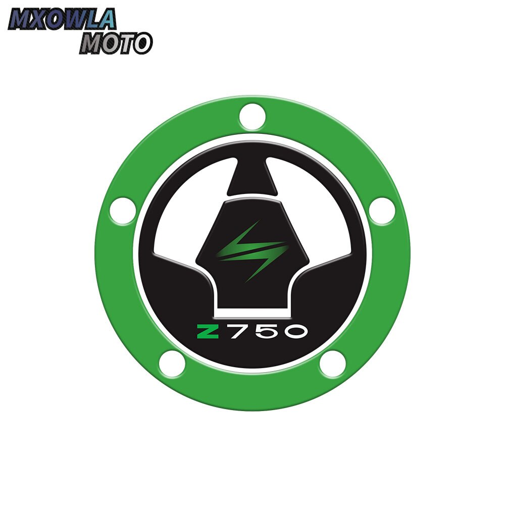 3D Motorcycle Carbon Fiber Tank Oil Gas Cap Pad Filler Cover Sticker Decals Fit  Z750 Z1000 Ninja