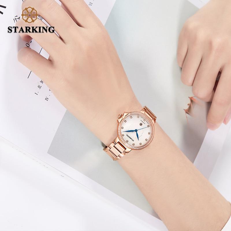 STARKING Women Watches Luxury Jewelry Sapphire Waterproof 5M Japan Miyota Movt Automatic Mechanical Wristwatch Relogio Feminino enlarge