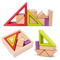 diy toy childrens wooden rainbow toys creative wood stacked blocks baby toys montessori educational toys for children boy gifts