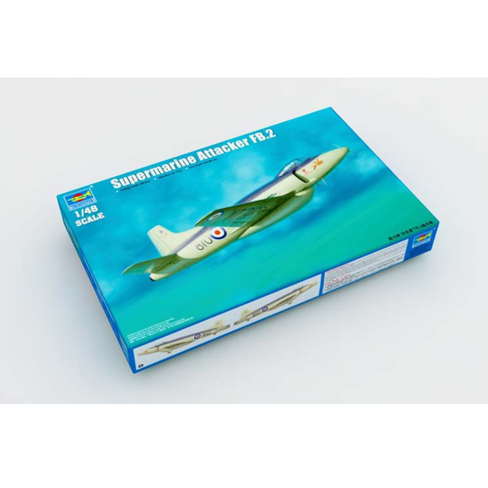 купить Trumpeter 1:48 1/48 Scale Supermarine Attacker FB2 F1 Fighter Plane Airplane Aircraft Toy Plastic Assembly Model Kit в интернет-магазине