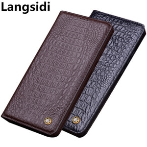 Full-grain genuine leather magnetic flip cover case for Samsung Galaxy Xcover 5/Galaxy Xcover 4/Galaxy Xcover 4S phone cases
