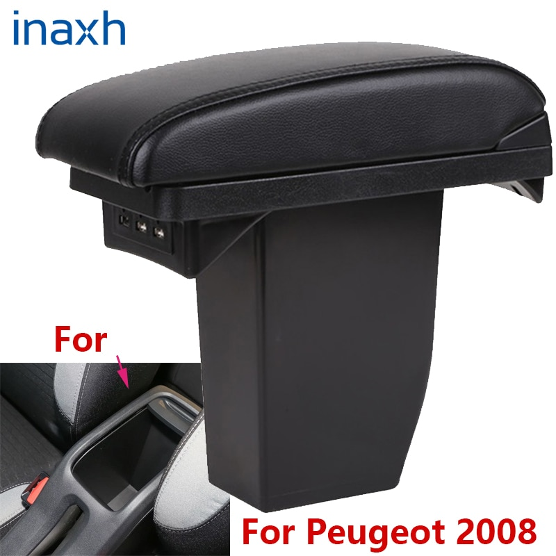 For Peugeot 2008 Armrest box Retrofit parts Car special Armrest Center Storage box car accessories Interior special With USB for suzuki swift armrest box 2005 2019 car armrest car accessories interior storage box retrofit parts usb 2011 2014 2017 2018