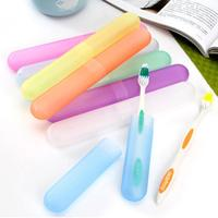 Camping Portable Toothbrush Box Travel Hiking Dust-proof Organizer Plastic Portable Brush Cap Toothbrush Storage Box
