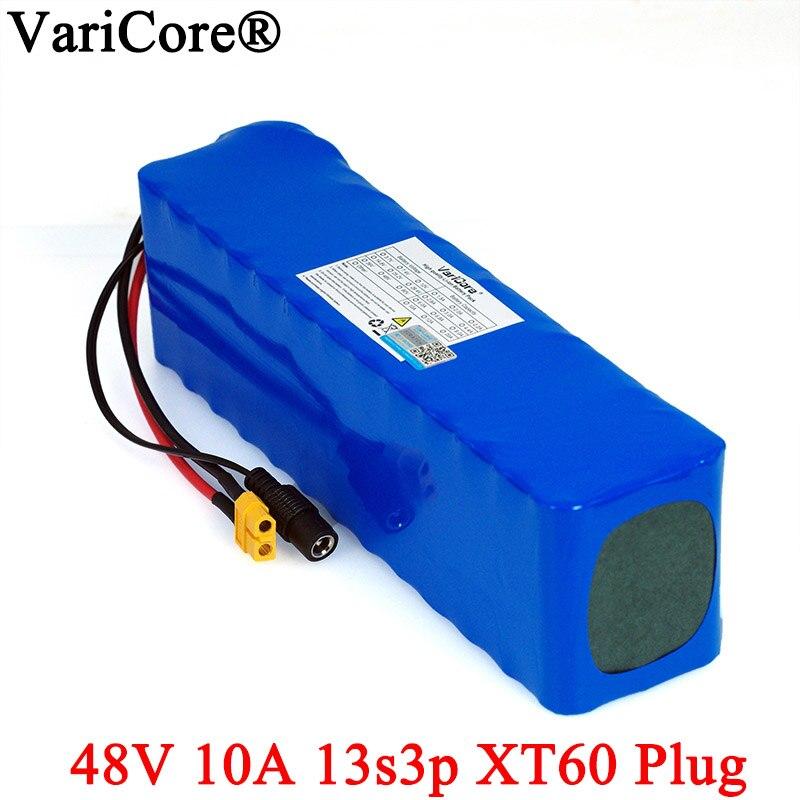 Batería de bicicleta eléctrica VariCore 48v 10ah 13s3p18650 li-ion kit de conversión de bicicleta 1000w XT60 enchufe 54,6 v baterías
