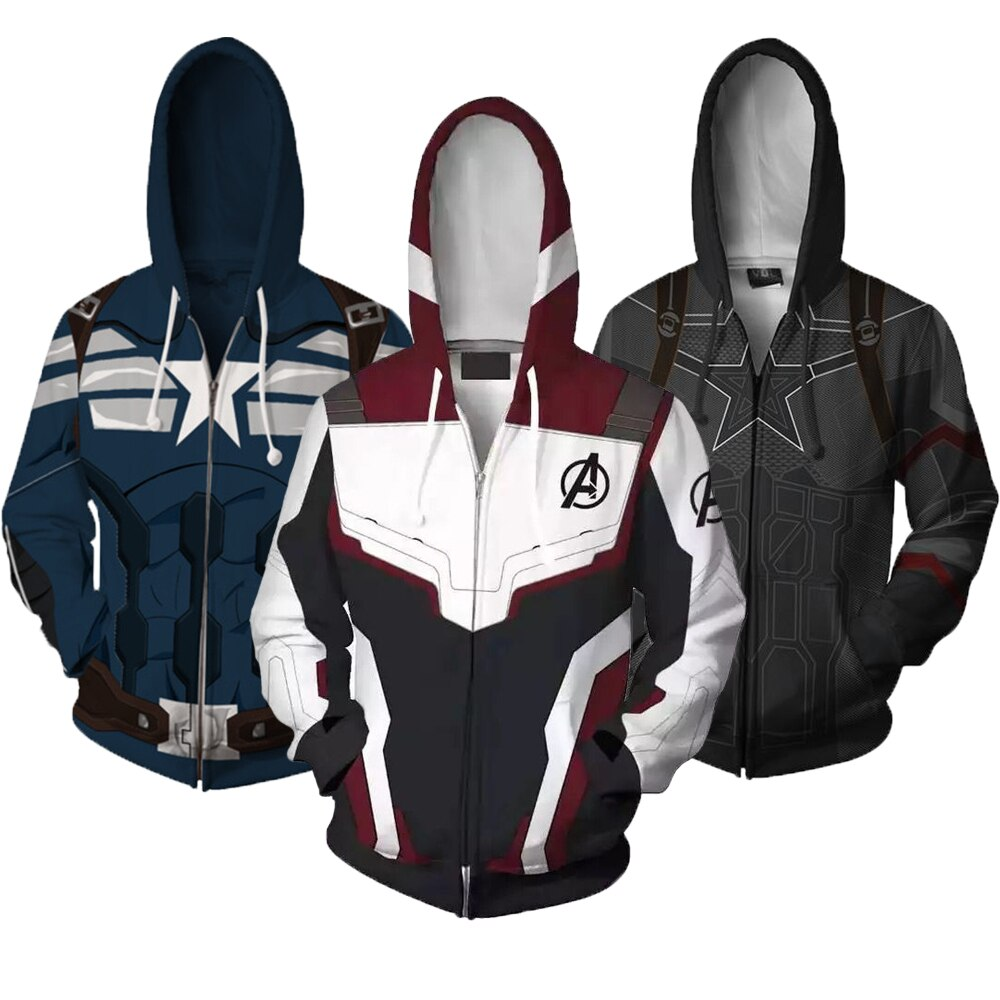 Boys Coat The Avengers 4 Captain America Boys Sweatshirt Quantum Warfare Hoodies Coats For Boys Autumn Kids Jacket Clothes