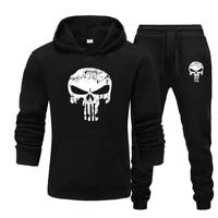 2 021 new 2 piece sportswear mens fallwinter hooded sweatshirt drawstring pants mens sports hoodie running sportswear