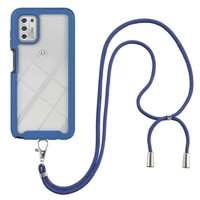 necklace strap lanyard phone case for motorola moto g play power g stylus 2021 5g shockproof cases 3 in 1 back cover for funda