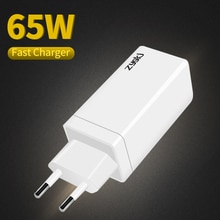 ZYG Xiaomi 65W Fast Charger Type-C Interface PD3.0 QC4.0 Portable Mobile Phone Quick Charger, iPhone