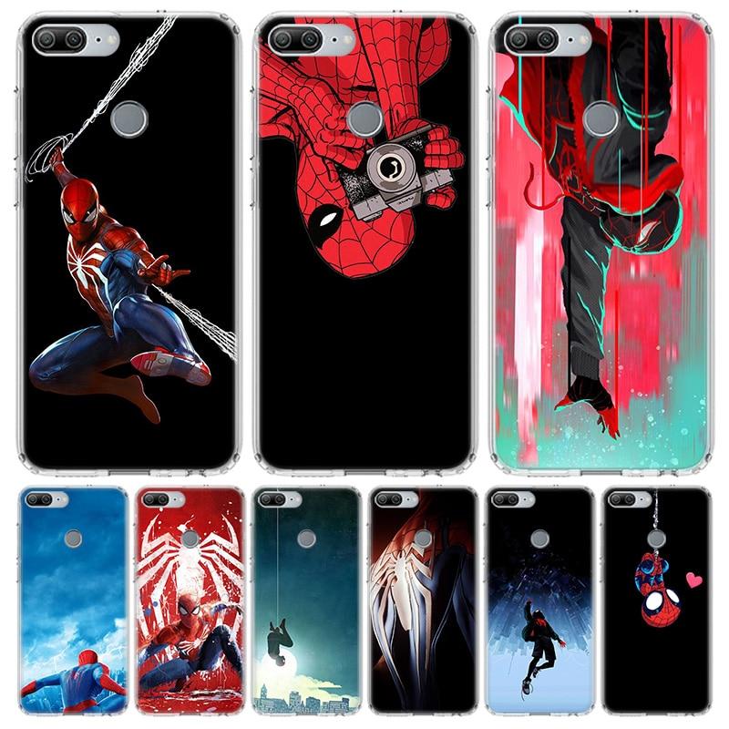 Hombre Araña Holanda cubierta del teléfono para Huawei Y5 Y6 Y7 Y9 2019 Honor 8A 8S 8X 7A 7X 9 10 20 Lite Pro 10i20i V30 Coque Shell