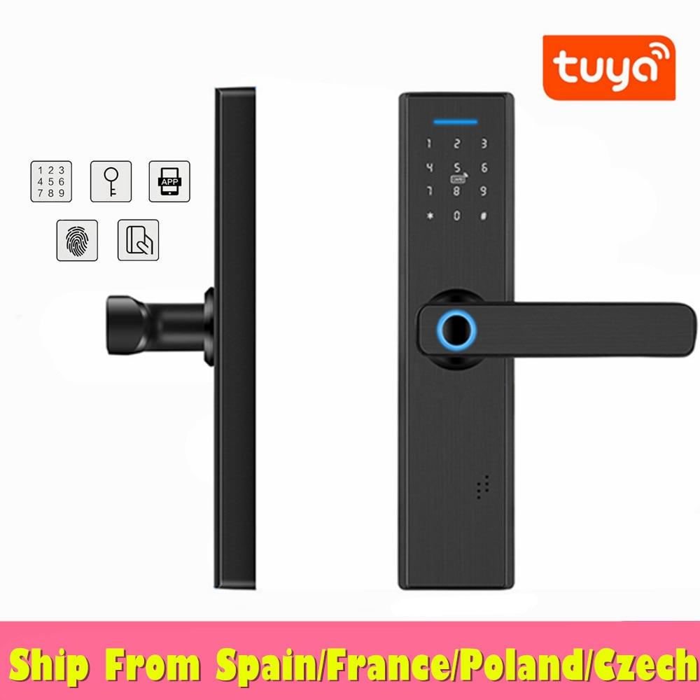 Wifi Electronic Door Lock With Tuya APP Remotely Fingerprint Lock/Password/IC Card Fechadura Digital
