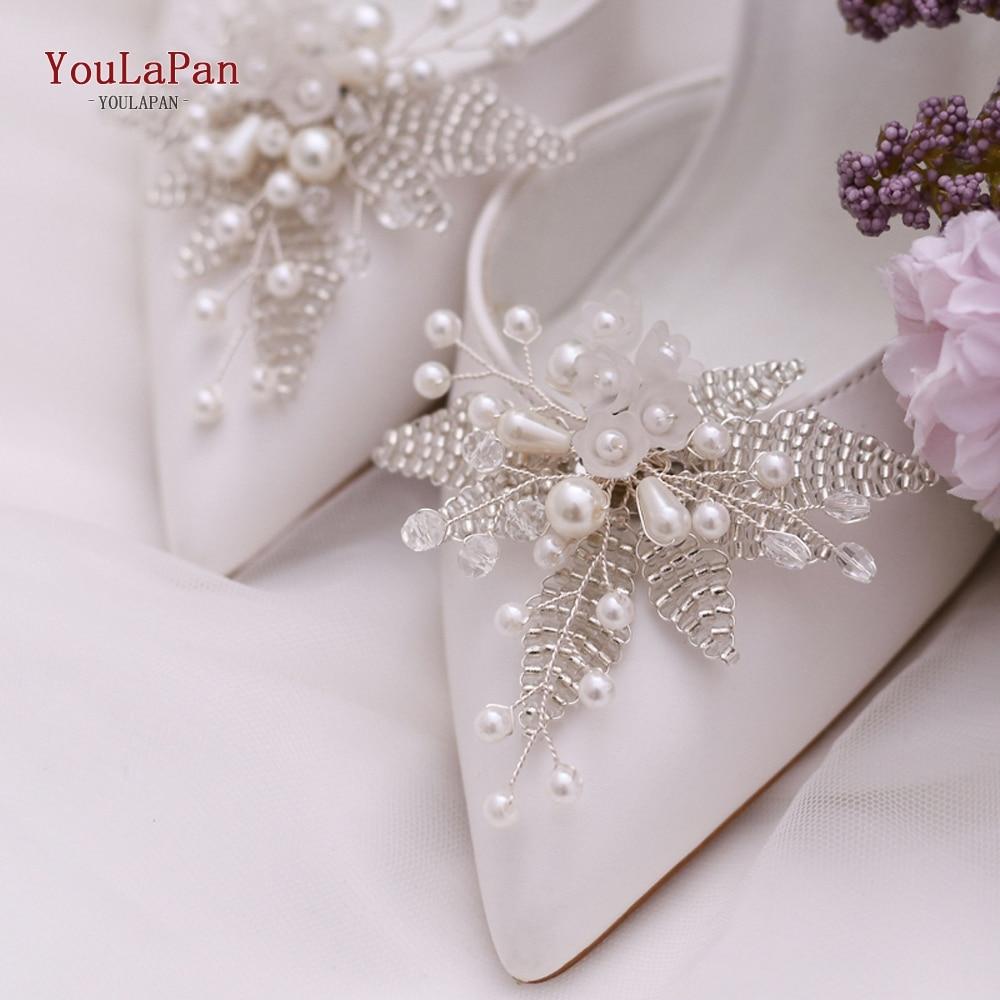 YouLaPan, 2 unids/lote, Clips de tacón alto para novia, zapatos de novia con diamantes de imitación, hebilla, accesorios para mujer, decoración de tacón alto X07