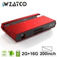WZATCO 200 pouces Full HD 1080P MAX 4K MINI projecteur DLP intelligent Android WIFI Home cinema projecteur 3LED video lAsEr Pr