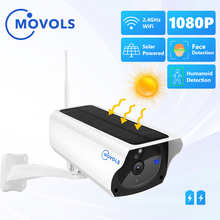Movols 1080P IP камера WIFI Беспроводная солнечная панель Батарея камера безопасности 2MP PIR Двусторонняя аудио Водонепроницаемая камера наблюдения
