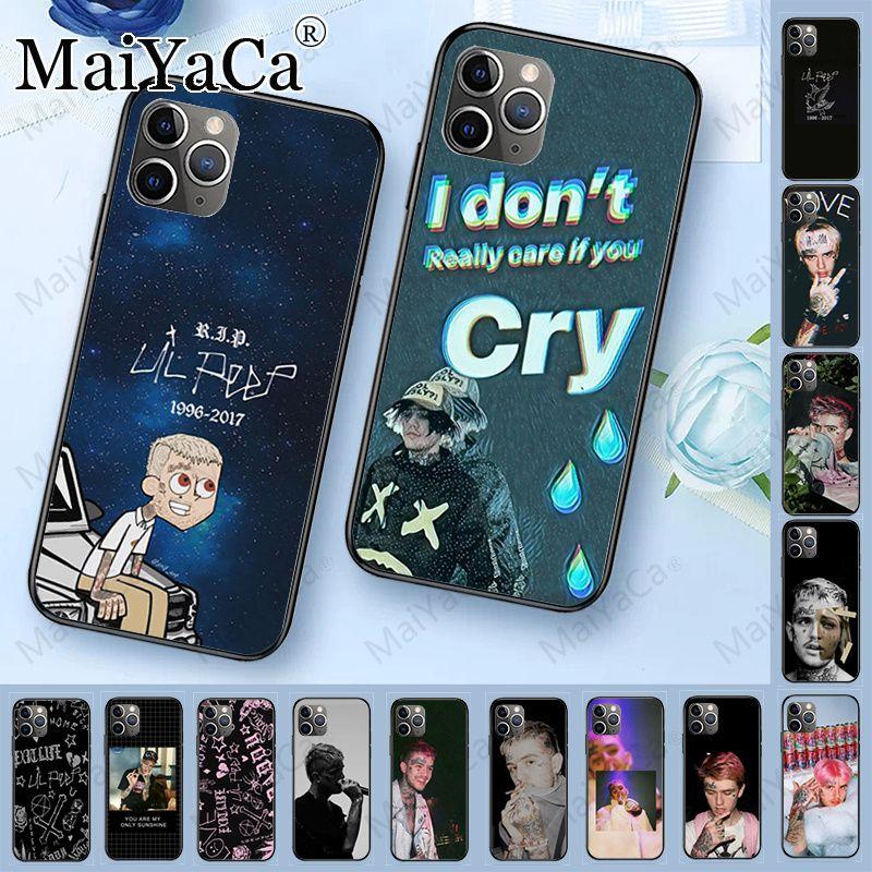 Capa para iphone 11 lil peep preto tpu macio silicone telefone capa para iphone 11pro 5S 6s 7 8plus x xs xr xsmax coque casos móveis