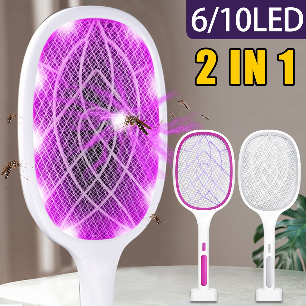 electric mosquito killer swatter home pest control handheld mosquito racket insect bug racket zapper fly mosquito killer trap 3000V Electric Flies Swatter Killer Fly Zapper Racket with UV Lamp Rechargeable Mosquito Trap Racket Anti Insect Bug Zapper