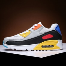 2021 Mens Casual Shoes Fashion Male Sneakers Air Cushion Breathable Sports Running Shoes PU Mesh Ten