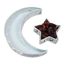 Eid moubarak lune étoile plateau de service vaisselle Dessert nourriture stockage musulman islamique