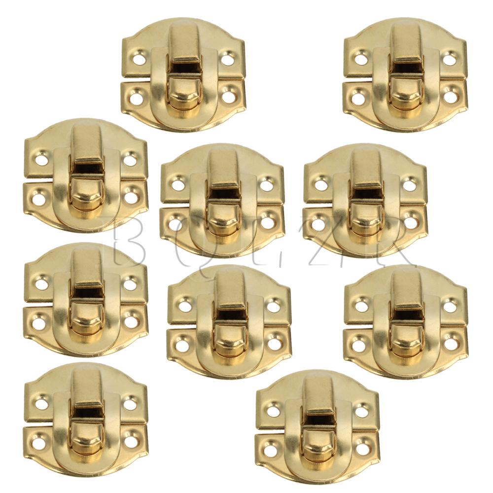 BQLZR 10 Uds Mini cerrojo de candado cerradura de grillete con hebilla para cajones de armarios A011 21x20mm
