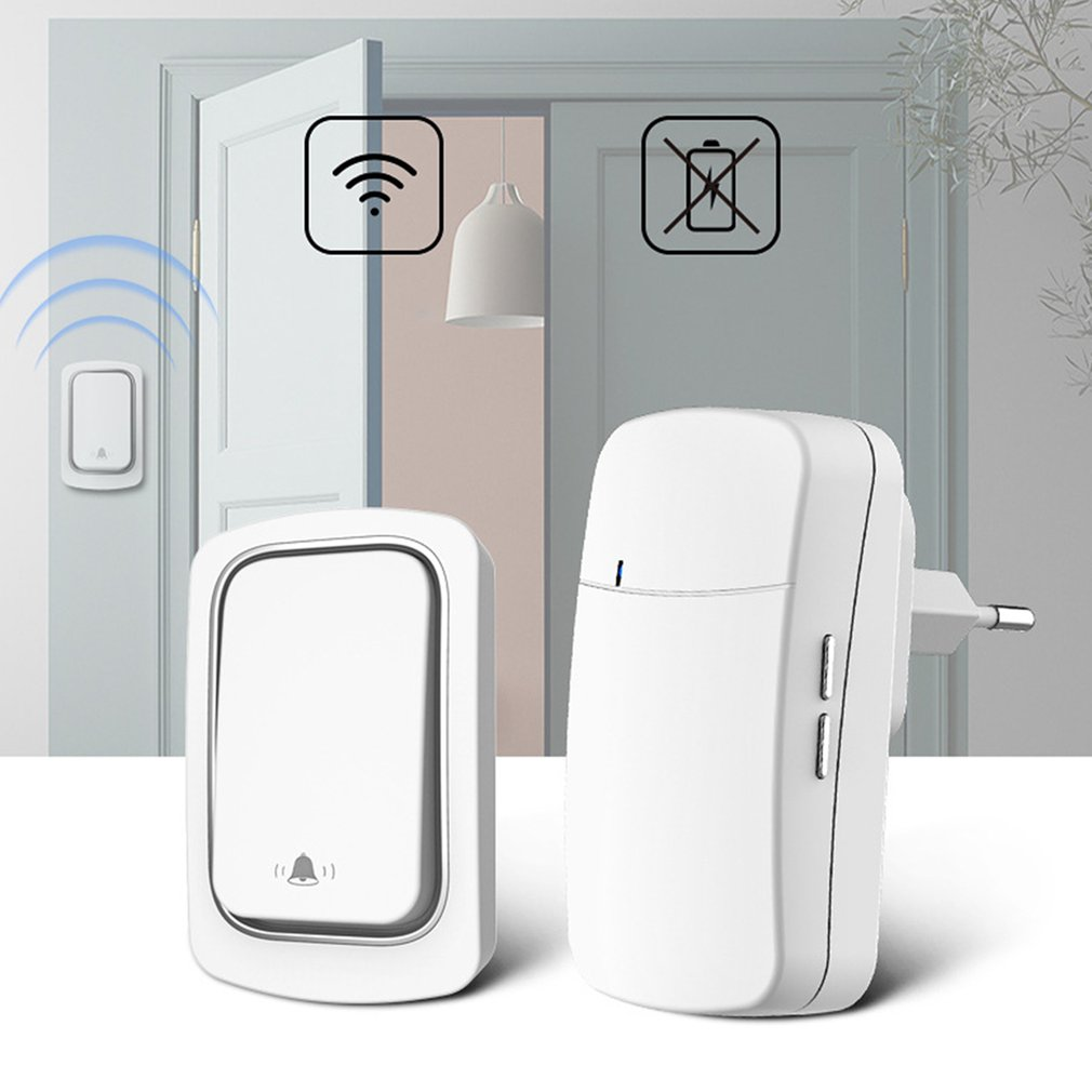 Hot Waterproof Household Doorbell Self-powered Wireless Doorbell Without Battery Pager Intelligent L