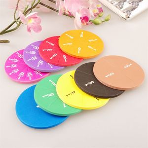 51pcs Magnetic Round Fraction Early Educational Math Toys Kids Educational 97BC